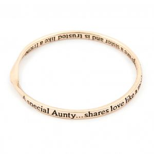 Lovethelinks Special Aunty Rose Gold Bangle