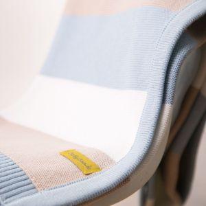 BabyBoo Blue Stripes Blanket