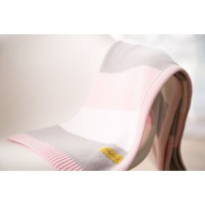 Babyboo Pink Stripes Blanket