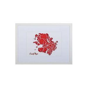 BBpapercuts County Mayo Framed