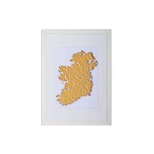 BBpapercuts Ireland Gold Framed