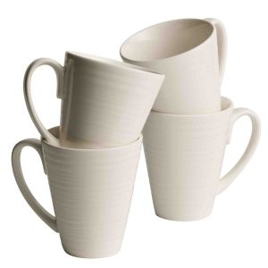 Belleek living ripple mug set of 4