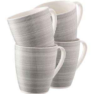 Belleek Spots & Dots Set of 4 Mugs