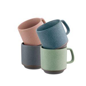 Belleek Tsuma Set of 4 Stacking Mugs
