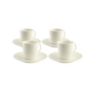 Belleek Grafton 4 Teacup & Saucer Set