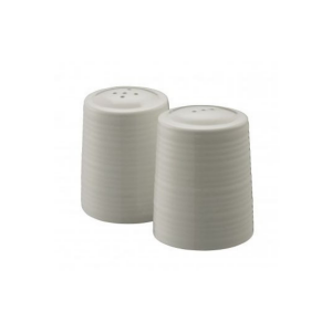 Belleek Ripple Salt & Pepper Set