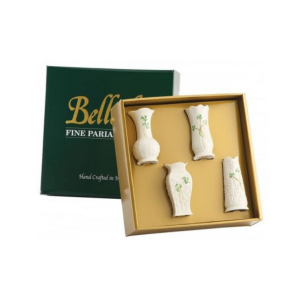 Belleek Set of 4 Mini Vases