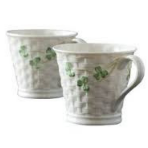 Belleek Shamrock Mugs Box Set 2