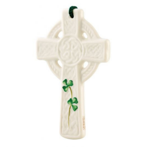 Belleek St. Ciarán's Celtic Cross Ornament