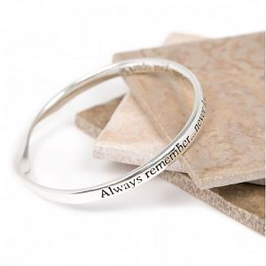 Lovethelinks Dull Sparkle Bangle Silver