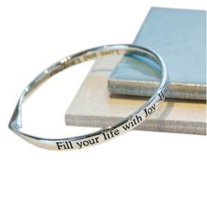 Lovethelinks Joy and Harmony Bangle Silver