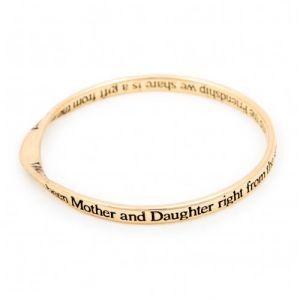 Lovethelinks Mother/Daughter Bangle Gold