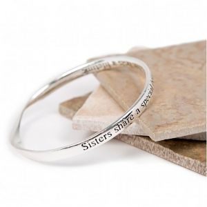 Lovethelinks Sisters/Bond Bangle in Silver