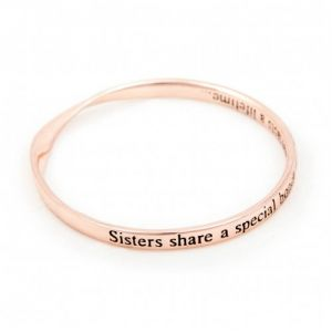 Lovethelinks Sisters/Bond Bangle in Rose Gold