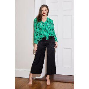 Caroline Kilkenny Becky Jaquard Black Trousers