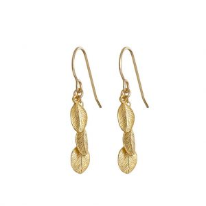 Chupi Leaves In The Forest Gold Earrings