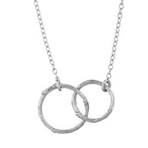 Chupi You & I Hawthorn Twig Circles Silver Necklace