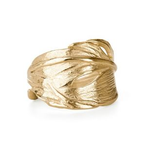 Chupi I Can Fly Swan Feather Gold Ring
