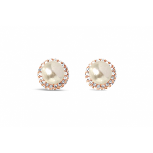 Absolute Rose Gold Clip On Pearl Earrings