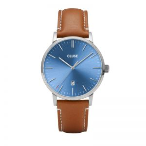 Cluse Aravis Mens Blue/Brown Watch