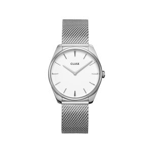 Cluse Féroce Mesh Silver Watch