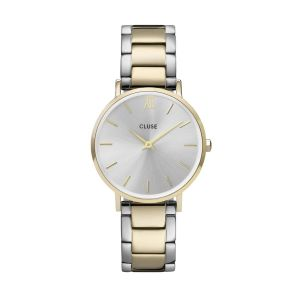 Cluse Minuit Three Link Gold/Silver Watch