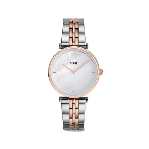 Cluse Triomphe White Pearl Dial Watch