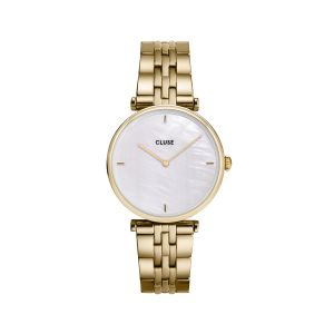 Cluse Triomphe White Pearl Gold Watch