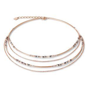 Coeur De Lion Waterfall Rose Gold Necklace