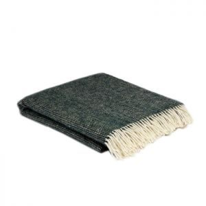 McNutts Moss Green Wool Throw