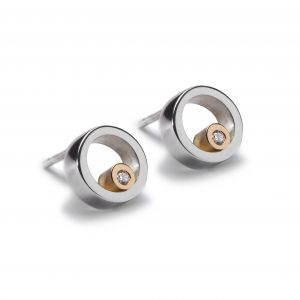 Maureen Lynch Eternal Dreams Silver/Gold Circles Stud