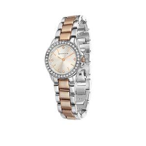 Newbridge Rose Gold Silver Plate Watch Round