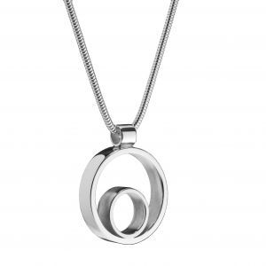 Maureen Lynch Circles Medium Silver Pendant