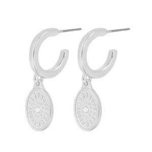 Dansk Smykkekunst Daisy Oval Silver Earrings