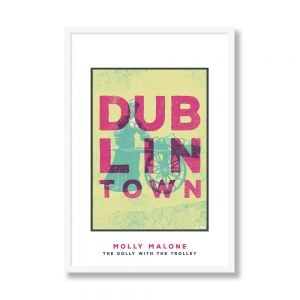 Jando Dublin Town Molly Malone Small Framed