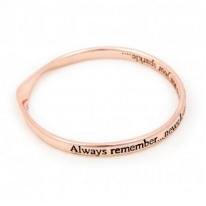 Lovethelinks Dull Sparkle Bangle Rose Gold