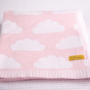 Babyboo Clouds Pink Blanket
