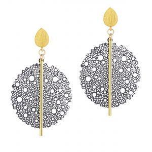 Scribble & Stone Laser Cut Bloom Drop Earrings
