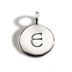 Enibas Anam Silver Initial E Charm