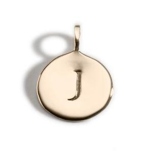 Enibas Anam Gold Initial J Charm