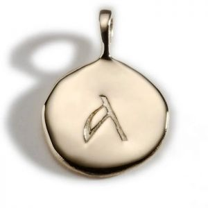 Enibas Anam Gold Initial A Charm