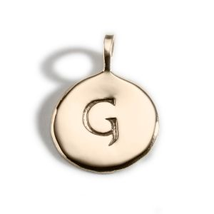 Enibas Anam Gold Initial G Charm