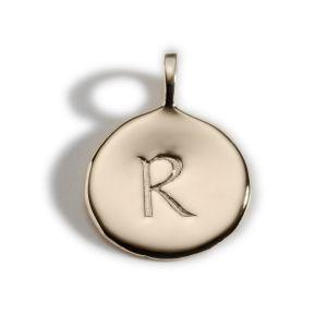 Enibas Anam Gold Initial R Charm