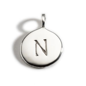 Enibas Anam Silver Initial N Charm