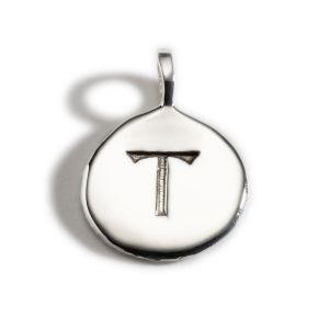 Enibas Anam Silver Initial T Charm