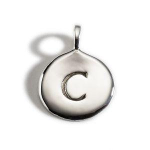 Enibas Anam Silver Initial C Charm