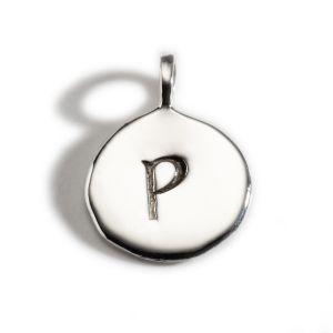 Enibas Anam Silver Initial P Charm