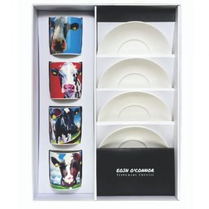 Eoin O' Connor Set of 4 Espresso Mugs