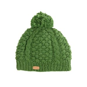 Erin Aran Blackberry Bobble Hat Green