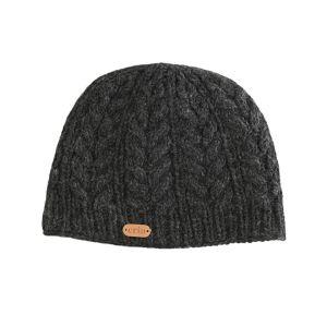 Erin Aran Cable Pullon Hat Charcoa